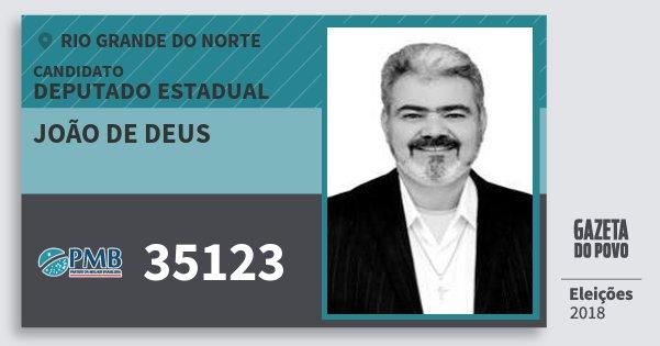 Santinho João de Deus 35123 (PMB) Deputado Estadual | Rio Grande do Norte | Eleições 2018