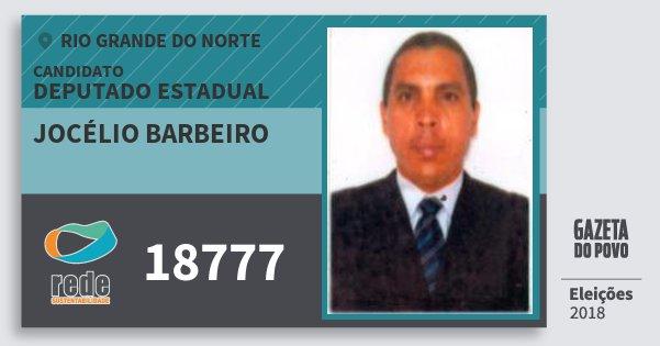 Santinho Jocélio Barbeiro 18777 (REDE) Deputado Estadual | Rio Grande do Norte | Eleições 2018