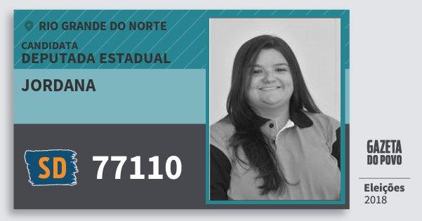 Santinho Jordana 77110 (SOLIDARIEDADE) Deputada Estadual | Rio Grande do Norte | Eleições 2018