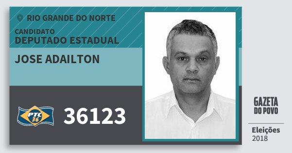 Santinho Jose Adailton 36123 (PTC) Deputado Estadual | Rio Grande do Norte | Eleições 2018