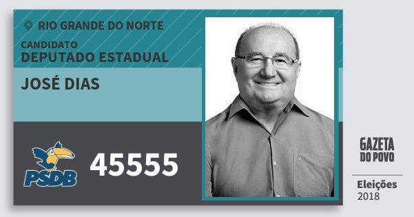 Santinho José Dias 45555 (PSDB) Deputado Estadual | Rio Grande do Norte | Eleições 2018