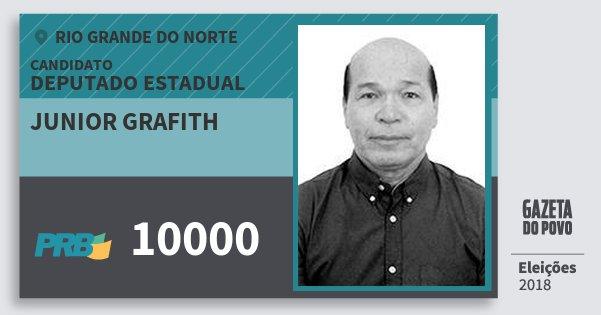 Santinho Junior Grafith 10000 (PRB) Deputado Estadual | Rio Grande do Norte | Eleições 2018