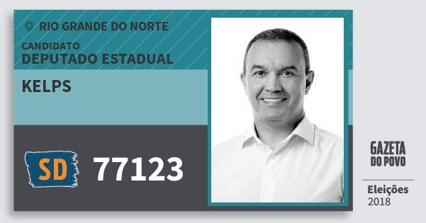 Santinho Kelps 77123 (SOLIDARIEDADE) Deputado Estadual | Rio Grande do Norte | Eleições 2018