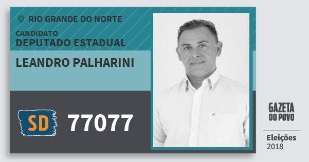 Santinho Leandro Palharini 77077 (SOLIDARIEDADE) Deputado Estadual | Rio Grande do Norte | Eleições 2018
