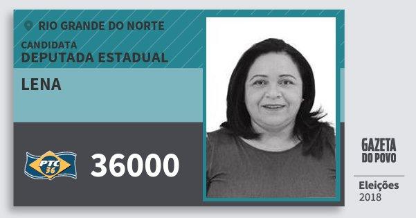 Santinho Lena 36000 (PTC) Deputada Estadual | Rio Grande do Norte | Eleições 2018