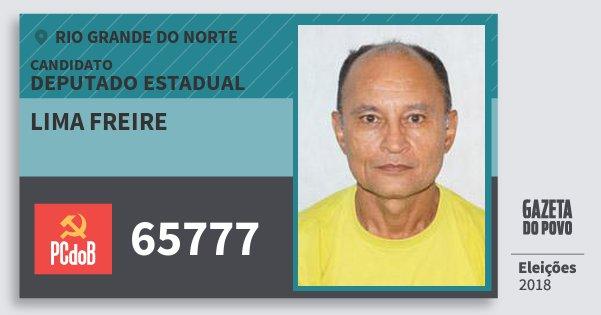Santinho Lima Freire 65777 (PC do B) Deputado Estadual | Rio Grande do Norte | Eleições 2018