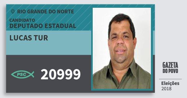Santinho Lucas Tur 20999 (PSC) Deputado Estadual | Rio Grande do Norte | Eleições 2018