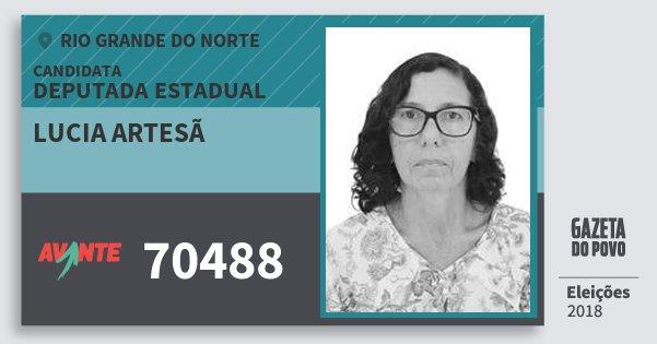 Santinho Lucia Artesã 70488 (AVANTE) Deputada Estadual | Rio Grande do Norte | Eleições 2018