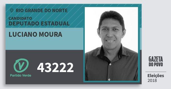 Santinho Luciano Moura 43222 (PV) Deputado Estadual | Rio Grande do Norte | Eleições 2018