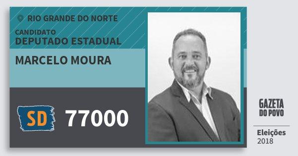Santinho Marcelo Moura 77000 (SOLIDARIEDADE) Deputado Estadual | Rio Grande do Norte | Eleições 2018