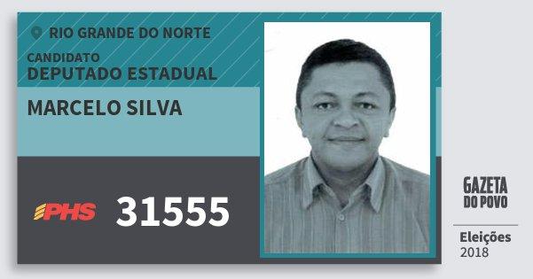 Santinho Marcelo Silva 31555 (PHS) Deputado Estadual | Rio Grande do Norte | Eleições 2018