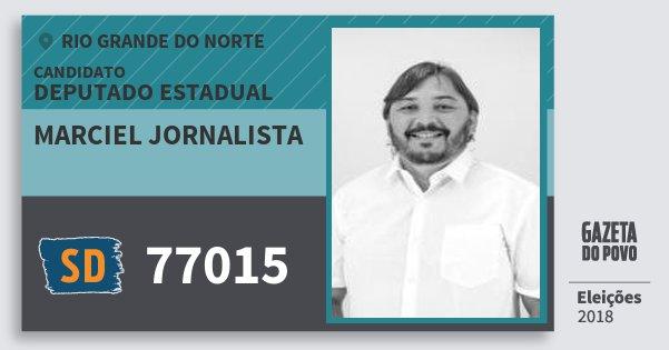 Santinho Marciel Jornalista 77015 (SOLIDARIEDADE) Deputado Estadual | Rio Grande do Norte | Eleições 2018