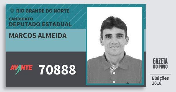 Santinho Marcos Almeida 70888 (AVANTE) Deputado Estadual | Rio Grande do Norte | Eleições 2018