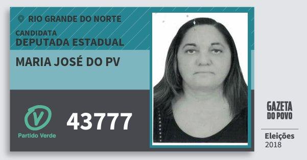 Santinho Maria José do Pv 43777 (PV) Deputada Estadual | Rio Grande do Norte | Eleições 2018
