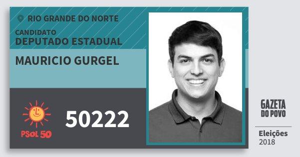 Santinho Mauricio Gurgel 50222 (PSOL) Deputado Estadual   Rio Grande do Norte   Eleições 2018