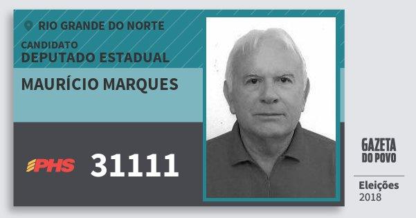 Santinho Maurício Marques 31111 (PHS) Deputado Estadual | Rio Grande do Norte | Eleições 2018