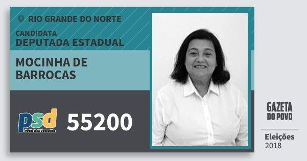 Santinho Mocinha de Barrocas 55200 (PSD) Deputada Estadual | Rio Grande do Norte | Eleições 2018