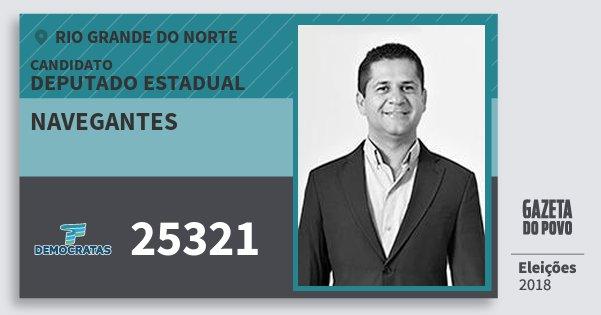 Santinho Navegantes 25321 (DEM) Deputado Estadual | Rio Grande do Norte | Eleições 2018