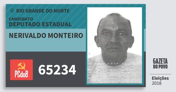 Santinho Nerivaldo Monteiro 65234 (PC do B) Deputado Estadual | Rio Grande do Norte | Eleições 2018