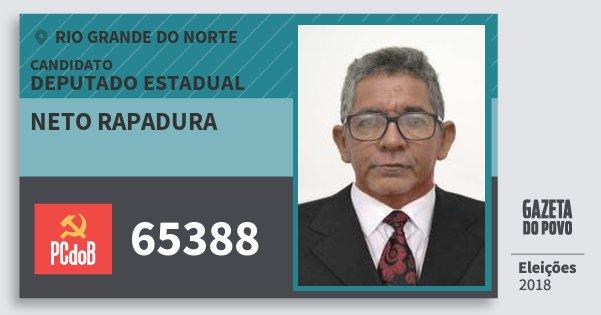 Santinho Neto Rapadura 65388 (PC do B) Deputado Estadual | Rio Grande do Norte | Eleições 2018