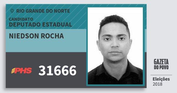 Santinho Niedson Rocha 31666 (PHS) Deputado Estadual | Rio Grande do Norte | Eleições 2018