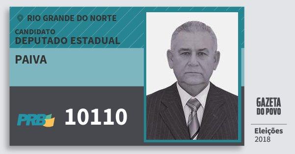 Santinho Paiva 10110 (PRB) Deputado Estadual | Rio Grande do Norte | Eleições 2018