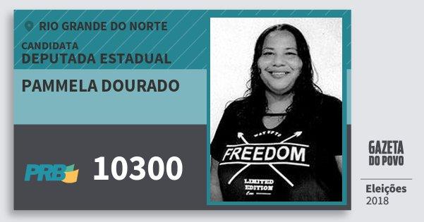Santinho Pammela Dourado 10300 (PRB) Deputada Estadual | Rio Grande do Norte | Eleições 2018