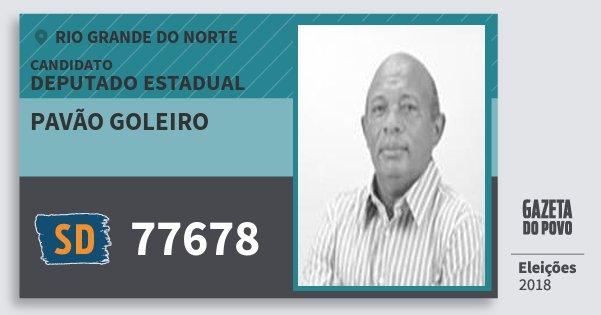 Santinho Pavão Goleiro 77678 (SOLIDARIEDADE) Deputado Estadual | Rio Grande do Norte | Eleições 2018