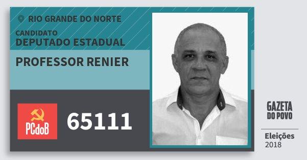 Santinho Professor Renier 65111 (PC do B) Deputado Estadual | Rio Grande do Norte | Eleições 2018