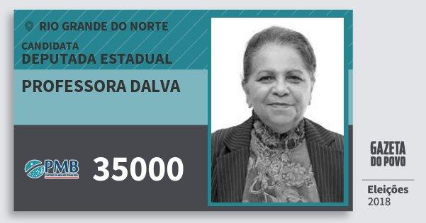 Santinho Professora Dalva 35000 (PMB) Deputada Estadual | Rio Grande do Norte | Eleições 2018