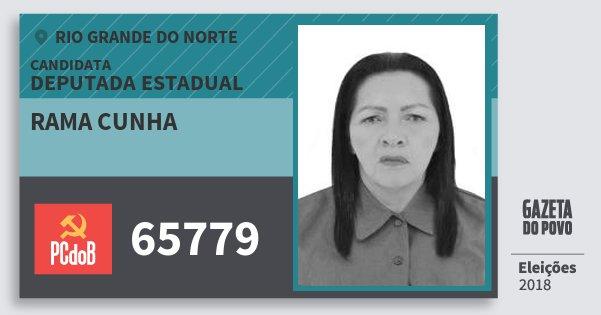 Santinho Rama Cunha 65779 (PC do B) Deputada Estadual | Rio Grande do Norte | Eleições 2018