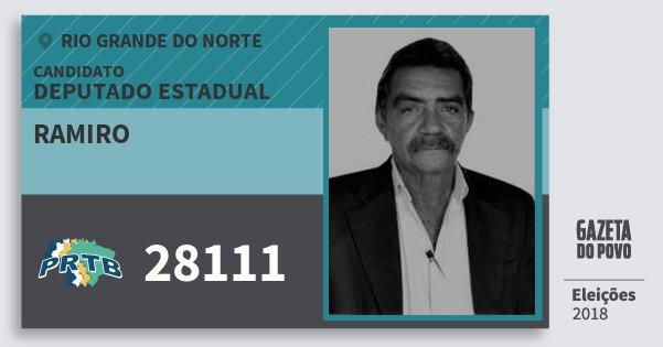 Santinho Ramiro 28111 (PRTB) Deputado Estadual | Rio Grande do Norte | Eleições 2018
