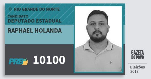 Santinho Raphael Holanda 10100 (PRB) Deputado Estadual | Rio Grande do Norte | Eleições 2018