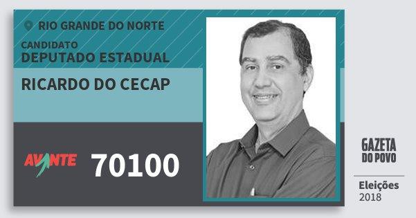 Santinho Ricardo do Cecap 70100 (AVANTE) Deputado Estadual | Rio Grande do Norte | Eleições 2018
