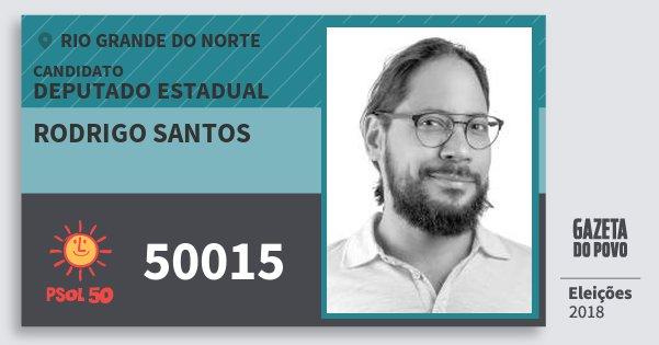 Santinho Rodrigo Santos 50015 (PSOL) Deputado Estadual | Rio Grande do Norte | Eleições 2018