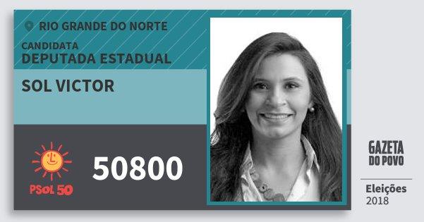 Santinho Sol Victor 50800 (PSOL) Deputada Estadual | Rio Grande do Norte | Eleições 2018