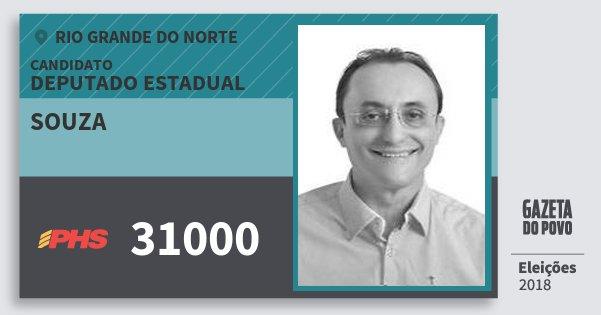 Santinho Souza 31000 (PHS) Deputado Estadual | Rio Grande do Norte | Eleições 2018