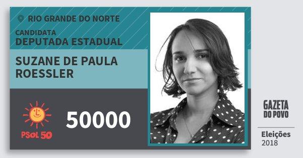 Santinho Suzane de Paula Roessler 50000 (PSOL) Deputada Estadual | Rio Grande do Norte | Eleições 2018