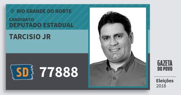 Santinho Tarcisio Jr 77888 (SOLIDARIEDADE) Deputado Estadual | Rio Grande do Norte | Eleições 2018