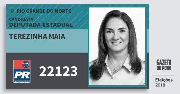 Santinho Terezinha Maia 22123 (PR) Deputada Estadual | Rio Grande do Norte | Eleições 2018