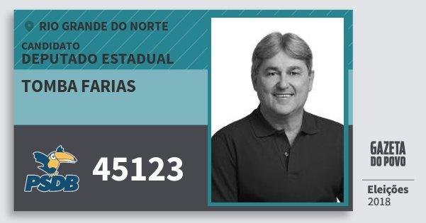Santinho Tomba Farias 45123 (PSDB) Deputado Estadual | Rio Grande do Norte | Eleições 2018