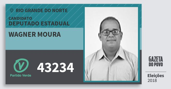 Santinho Wagner Moura 43234 (PV) Deputado Estadual | Rio Grande do Norte | Eleições 2018