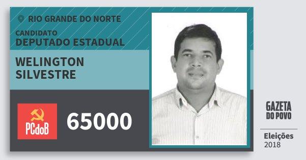 Santinho Welington Silvestre 65000 (PC do B) Deputado Estadual | Rio Grande do Norte | Eleições 2018
