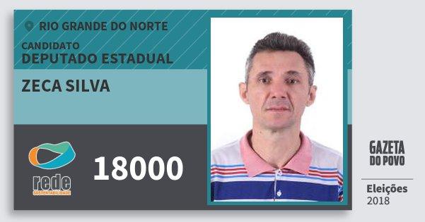 Santinho Zeca Silva 18000 (REDE) Deputado Estadual | Rio Grande do Norte | Eleições 2018