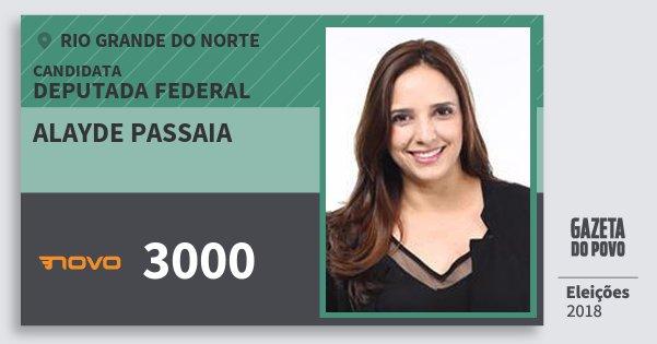 Santinho Alayde Passaia 3000 (NOVO) Deputada Federal | Rio Grande do Norte | Eleições 2018