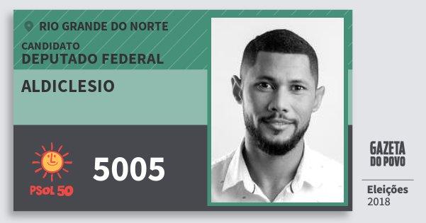 Santinho Aldiclesio 5005 (PSOL) Deputado Federal | Rio Grande do Norte | Eleições 2018