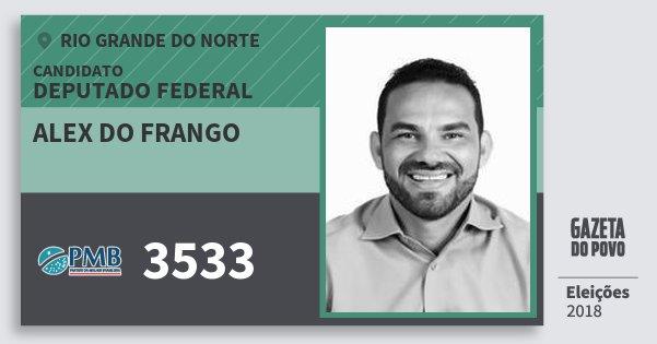Santinho Alex do Frango 3533 (PMB) Deputado Federal | Rio Grande do Norte | Eleições 2018