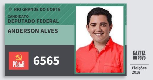 Santinho Anderson Alves 6565 (PC do B) Deputado Federal | Rio Grande do Norte | Eleições 2018