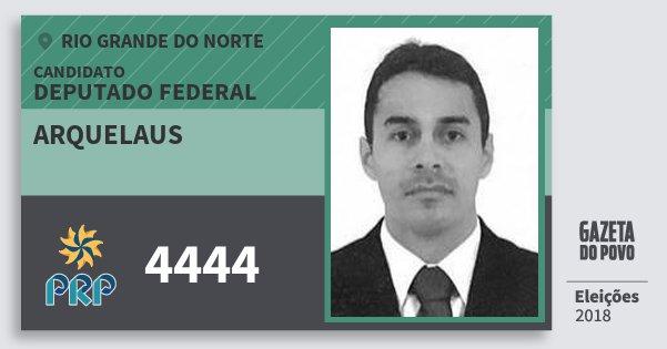Santinho Arquelaus 4444 (PRP) Deputado Federal | Rio Grande do Norte | Eleições 2018