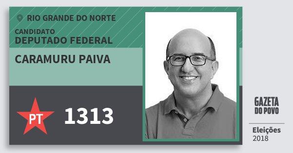 Santinho Caramuru Paiva 1313 (PT) Deputado Federal | Rio Grande do Norte | Eleições 2018